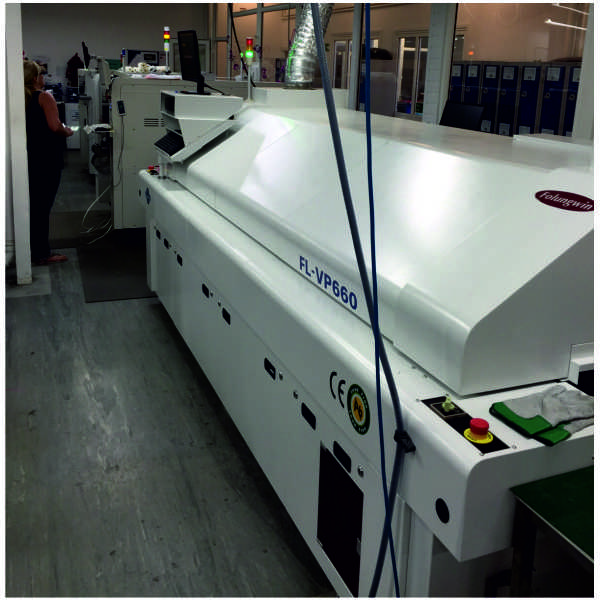 smt Line installalled including ESE screen printer, hanwha DECAN F2, folungwin 6 zone reflow, jutze xi-2000