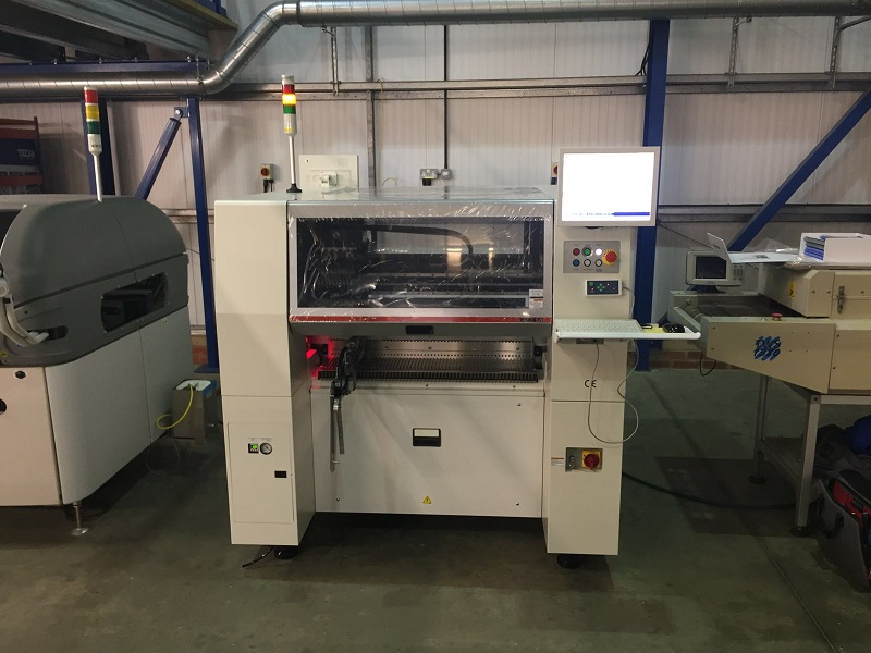 HANWHA SM481 High Speed Pick and Place machine installed