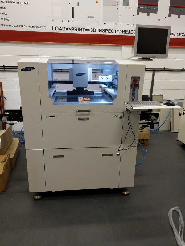 Used SAMSUNG SP450V Screen Printer